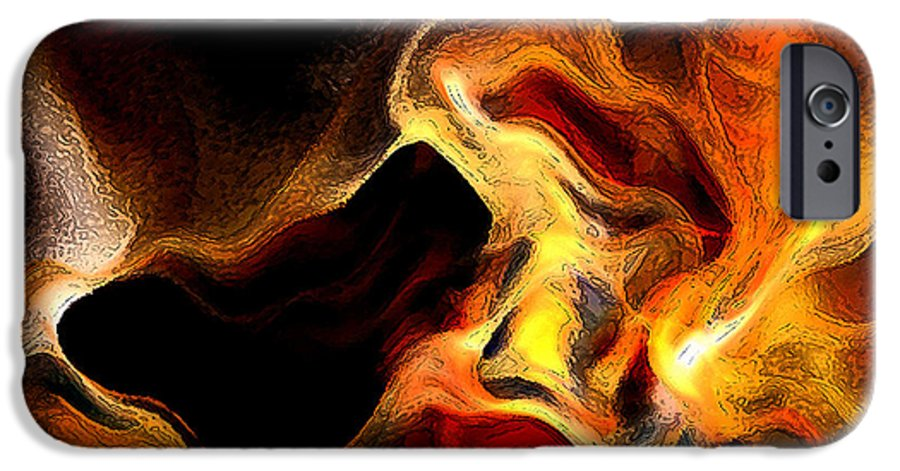 Abstract IPhone 6s Case featuring the digital art Firey by Ruth Palmer