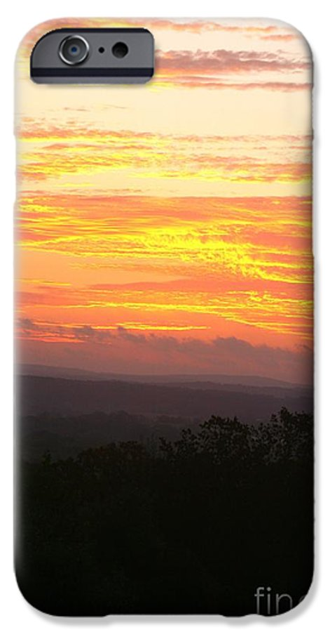 Sunrise IPhone 6s Case featuring the photograph Flaming Autumn Sunrise by Nadine Rippelmeyer