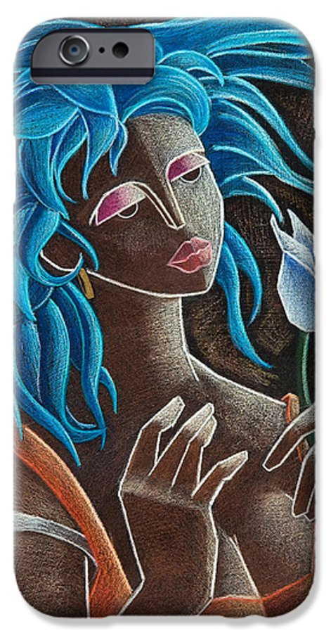 Puerto Rico IPhone 6s Case featuring the painting Flor Y Viento by Oscar Ortiz