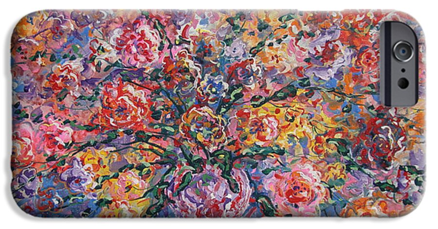 Painting IPhone 6s Case featuring the painting Floral Melody by Leonard Holland
