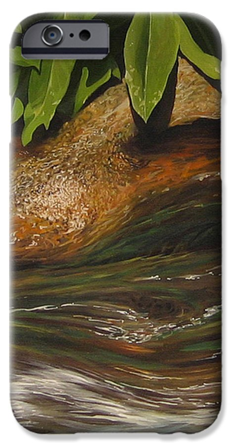 Colorado Mountain Stream IPhone 6s Case featuring the painting Flow by Hunter Jay