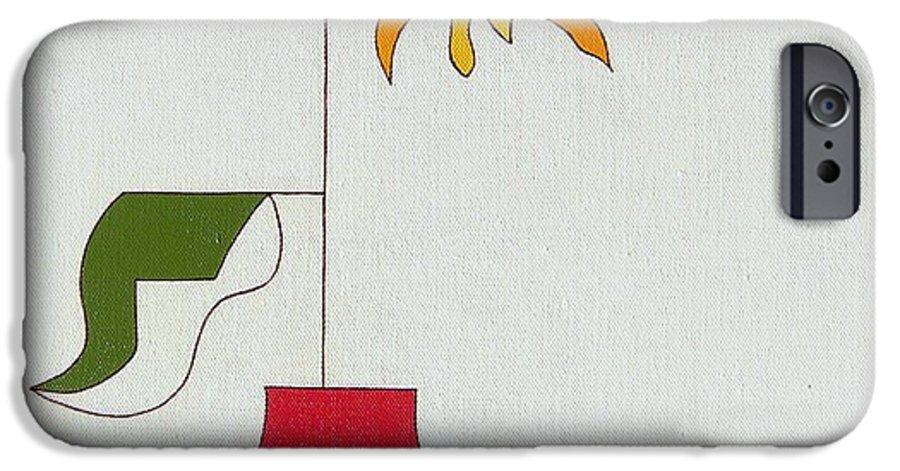 Flower Special Original Modern Constructivisme Stylisme IPhone 6s Case featuring the painting Flower II by Hildegarde Handsaeme