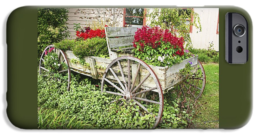 Wagon IPhone 6s Case featuring the photograph Flower Wagon by Margie Wildblood
