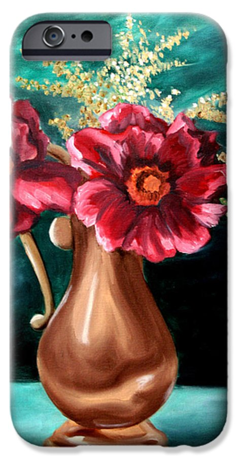 Flower IPhone 6s Case featuring the painting Flowers by Maryn Crawford