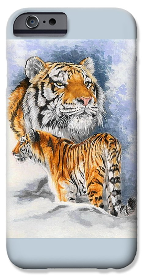 Big Cats IPhone 6s Case featuring the mixed media Forceful by Barbara Keith