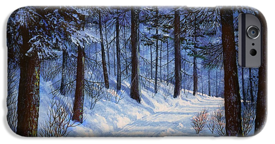 Landscape IPhone 6s Case featuring the painting Forest Road by Frank Wilson