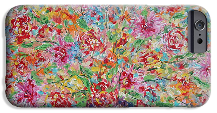 Painting IPhone 6s Case featuring the painting Fresh Flowers. by Leonard Holland