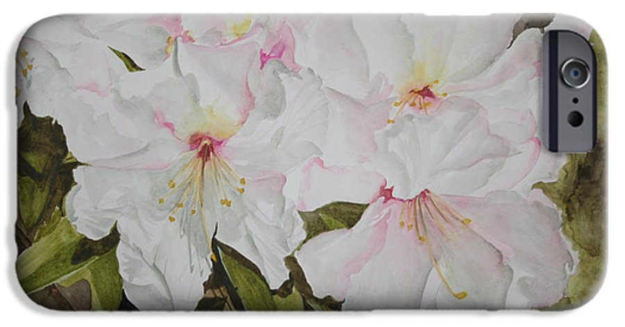 Flowers IPhone 6s Case featuring the painting Full Bloom by Jean Blackmer