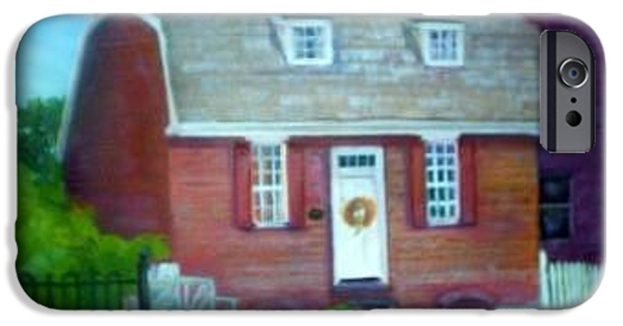 Revell House IPhone 6s Case featuring the painting Gingerbread House by Sheila Mashaw