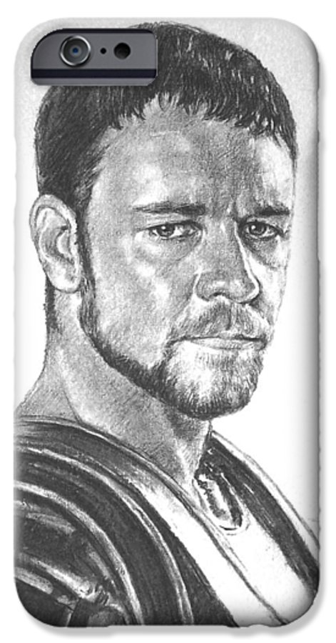 Portraits IPhone 6s Case featuring the drawing Gladiator by Iliyan Bozhanov