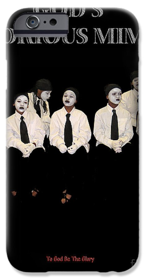 Young Mimes Waiting To Perform For God IPhone 6s Case featuring the photograph God by Reggie Duffie