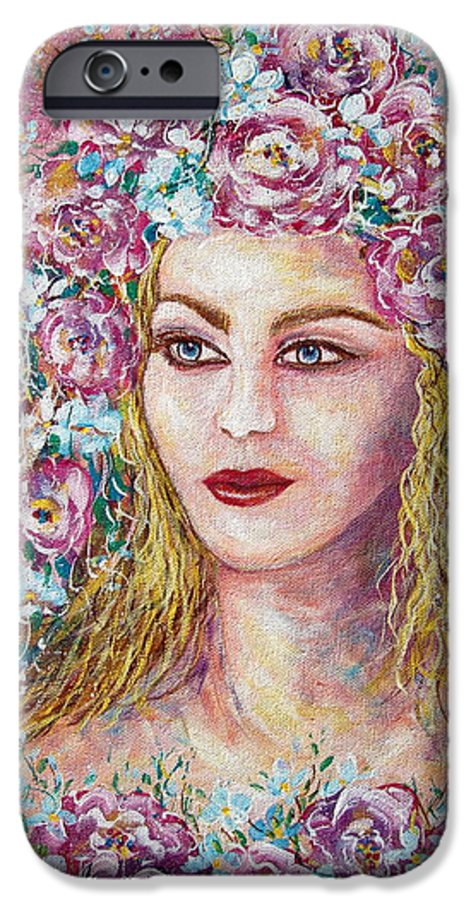 Goddess Of Good Fortune IPhone 6s Case featuring the painting Goddess Of Good Fortune by Natalie Holland