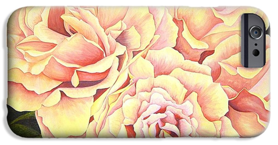 Roses IPhone 6s Case featuring the painting Golden Roses by Rowena Finn