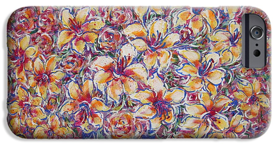 Lily IPhone 6s Case featuring the painting Golden Splendor by Natalie Holland