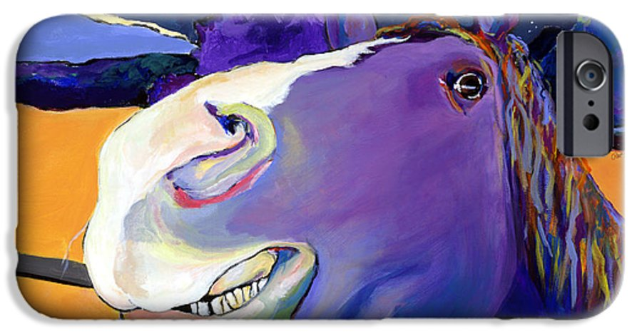 Barnyard Animal IPhone 6s Case featuring the painting Got Oats   by Pat Saunders-White