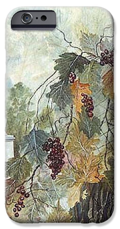 Fruit IPhone 6s Case featuring the painting Grapevine Topiary by Ben Kiger