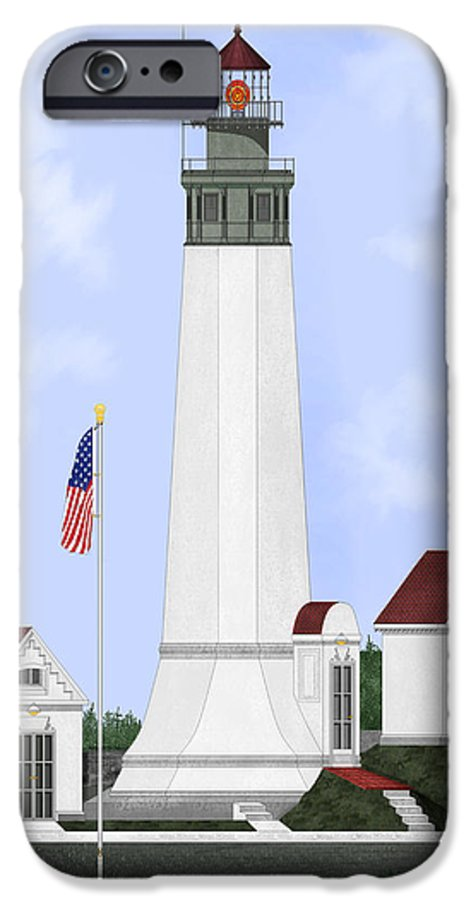Lighthouse IPhone 6s Case featuring the painting Grays Harbor Light Station Historic View by Anne Norskog