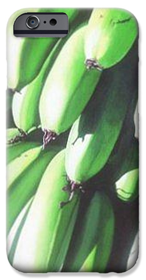 Hyperrealism IPhone 6s Case featuring the painting Green Bananas I by Michael Earney