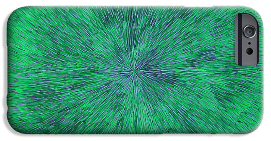 Abstract IPhone 6s Case featuring the painting Green Radation With Violet by Dean Triolo
