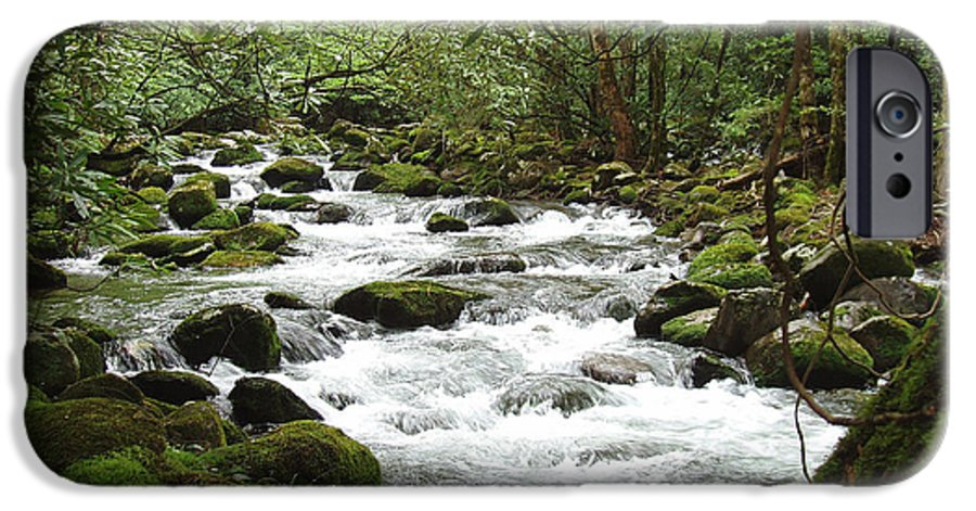 Smoky Mountains IPhone 6s Case featuring the photograph Greenbrier River Scene 2 by Nancy Mueller