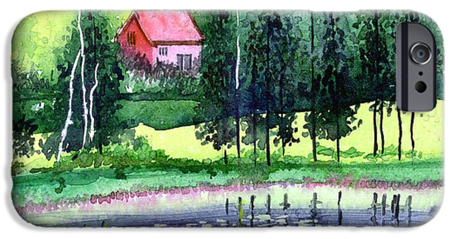 Landscape IPhone 6s Case featuring the painting Guest House by Anil Nene