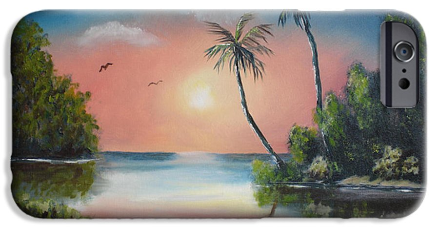 Sunset IPhone 6s Case featuring the painting Gulf Coast Sunset by Susan Kubes