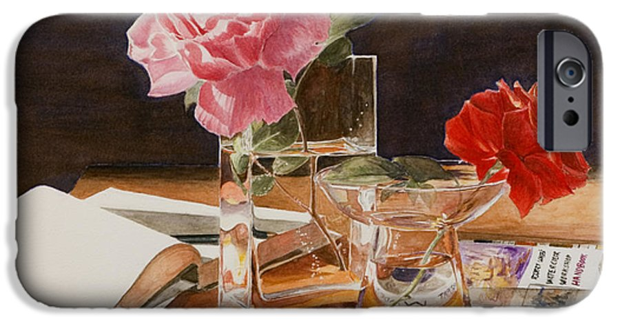 Rose IPhone 6s Case featuring the painting Handbuch by Nik Helbig
