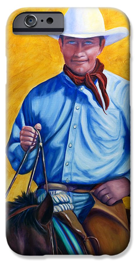 Cowboy IPhone 6s Case featuring the painting Happy Trails by Shannon Grissom