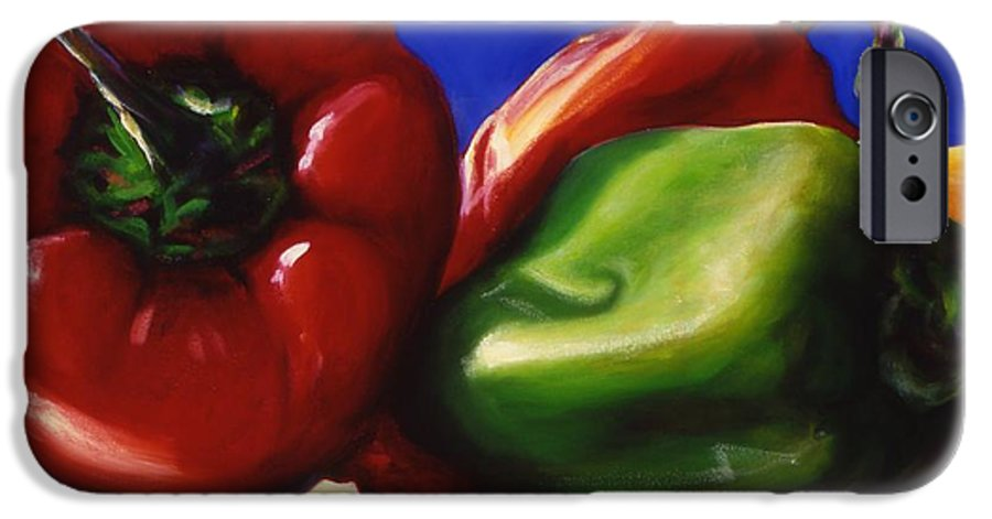 Still Life IPhone 6s Case featuring the painting Harvest Festival Peppers by Shannon Grissom