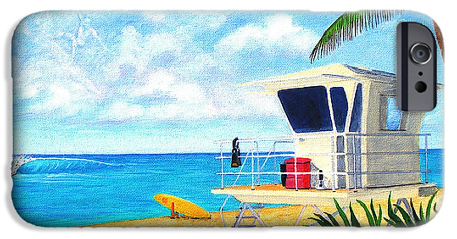 Hawaii IPhone 6s Case featuring the painting Hawaii North Shore Banzai Pipeline by Jerome Stumphauzer