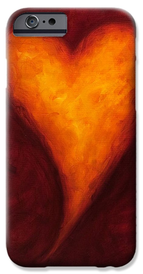 Heart IPhone 6s Case featuring the painting Heart Of Gold 2 by Shannon Grissom