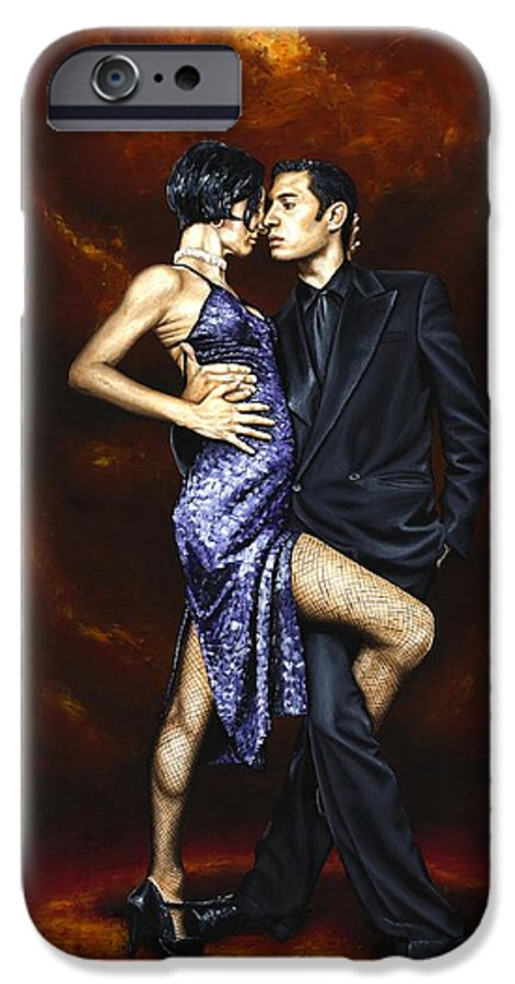 Tango Dancers Love Passion Female Male Woman Man Dance IPhone 6s Case featuring the painting Held In Tango by Richard Young