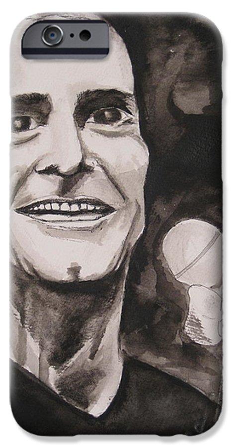 Author Black Darkestartist Flag Henry Ink Musician Panting Portrait Rollins Spoken Watercolor Darkest Artist IPhone 6s Case featuring the painting Henry Rollins by Darkest Artist