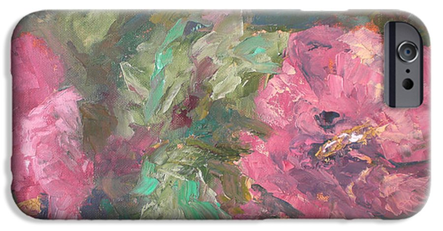 Oil IPhone 6s Case featuring the painting Hibiscus by Lou Ewers