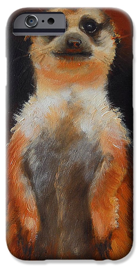 Oil IPhone 6s Case featuring the painting I See You Too by Greg Neal
