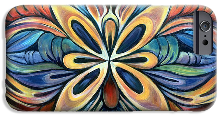 Mandala IPhone 6s Case featuring the painting Illumination by Shadia Derbyshire