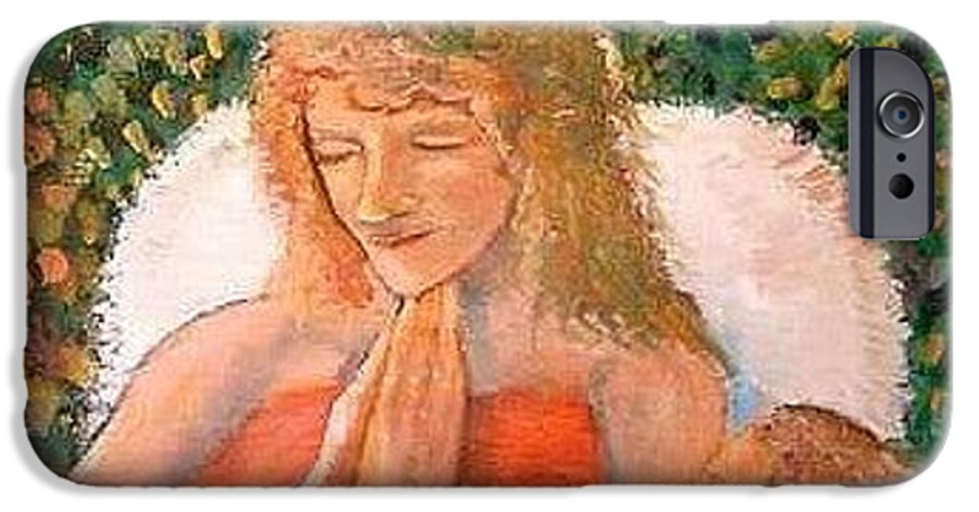Angels IPhone 6s Case featuring the painting In The Garden We Pray by J Bauer