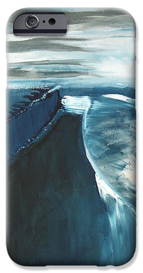 Abstract Acrylic Artist Blue Darkest Darkestartist January Painting Water Ice IPhone 6s Case featuring the painting January by Darkest Artist