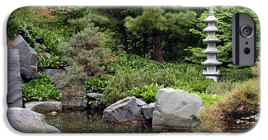 Japanese Garden IPhone 6s Case featuring the photograph Japanese Garden Iv by Kathy Schumann