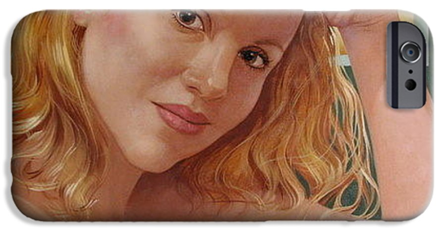 Portrait IPhone 6s Case featuring the painting Jenn Cornelius by Jerrold Carton