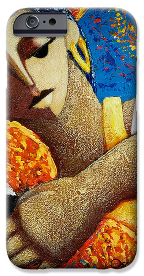 Puerto Rico IPhone 6s Case featuring the painting Jibara Y Sol by Oscar Ortiz