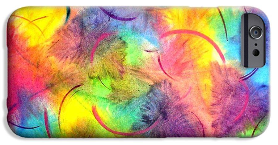 Color IPhone 6s Case featuring the pastel Joy by Chandelle Hazen