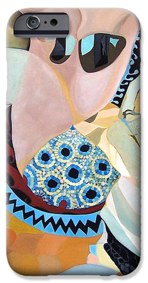 Figyrative IPhone 6s Case featuring the painting Jurney by Antoaneta Melnikova- Hillman