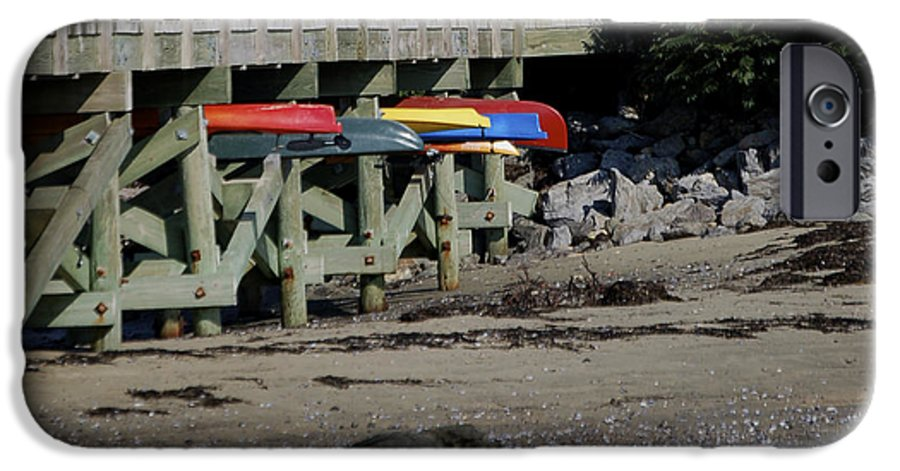 Kayak IPhone 6s Case featuring the photograph Kayak Rack by Faith Harron Boudreau