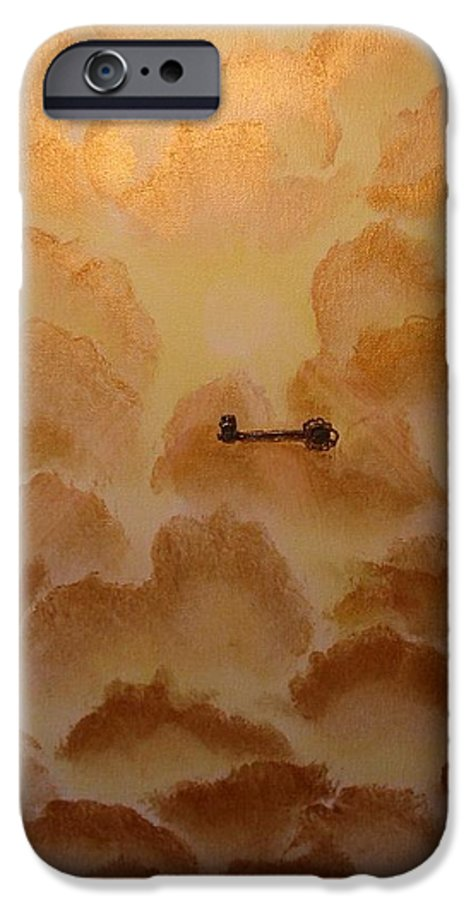 Gold IPhone 6s Case featuring the painting Keys To The Kingdom by Laurie Kidd