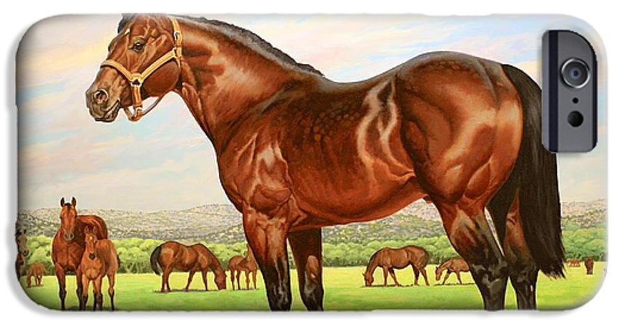 Quarter Horse IPhone 6s Case featuring the painting King P-234 No.two by Howard Dubois
