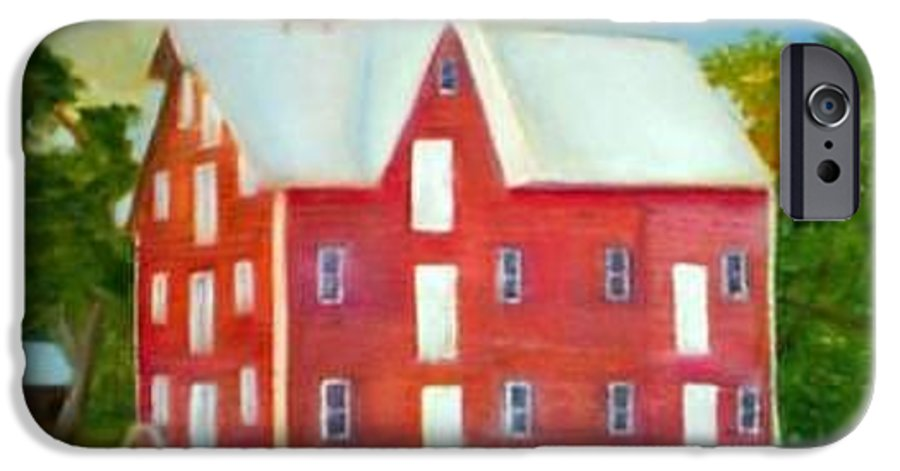 Kirby Mill IPhone 6s Case featuring the painting Kirby's Mil by Sheila Mashaw