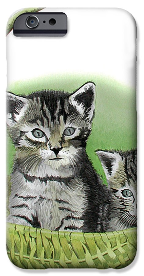 Cat IPhone 6s Case featuring the painting Kitty Caddy by Ferrel Cordle