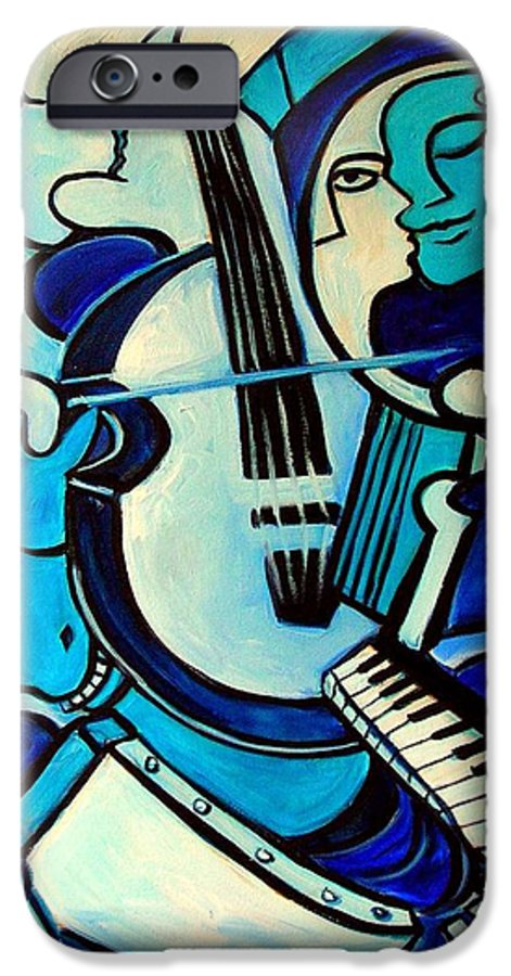 Abstract IPhone 6s Case featuring the painting L Amour Ou Quoi by Valerie Vescovi
