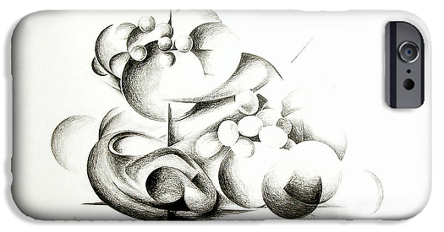 Abstract IPhone 6s Case featuring the drawing La Guerre Des Bulles by Muriel Dolemieux